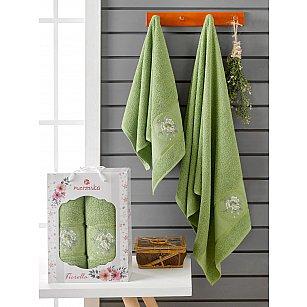 Комплект махровых полотенец Merzuka Fiorella (50*90; 70*140), зеленый