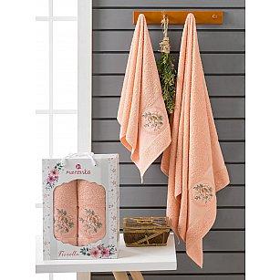 Комплект махровых полотенец Merzuka Fiorella (50*90; 70*140), оранжевый