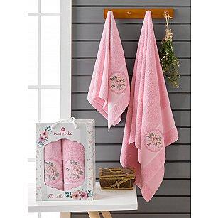 Комплект махровых полотенец Merzuka Fiorella (50*90; 70*140), розовый