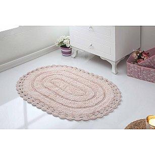 "Махровое кружевное полотенце для ног ""MODALIN YANA"", пудра, 50*70 см"