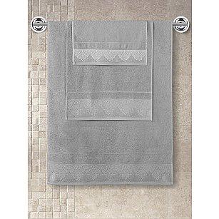 """Полотенце кухонное с жаккардом """"KARNA SIESTA"""", серый, 40*60 см"""