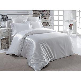 Комплект постельного белья шелк KARNA ARIN 50x70*2 70x70*2 (2 спальный), белый