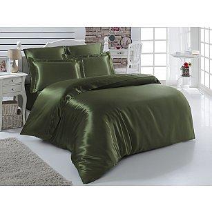 Комплект постельного белья шелк KARNA ARIN 50x70*2 70x70*2 (2 спальный), зеленый