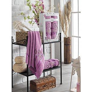 Комплект махровых полотенец TWO DOLPHINS ISABELLA (50*90; 70*140), лиловый