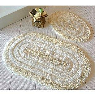 Набор ковриков для ванной DO&CO OVAL EFES (50*60; 60*100), кремовый