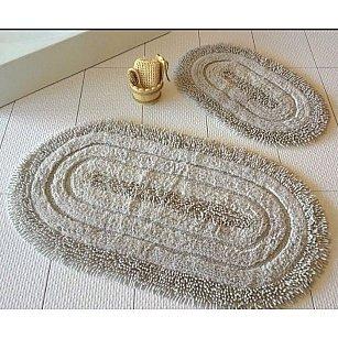Набор ковриков для ванной DO&CO OVAL EFES (50*60; 60*100), бежевый