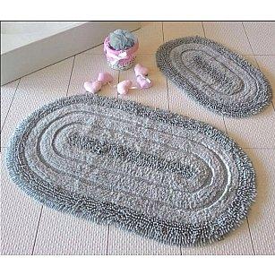 Набор ковриков для ванной DO&CO OVAL EFES (50*60; 60*100), серый