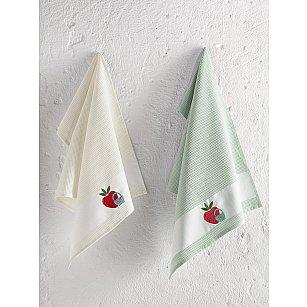 """Набор кухонных вафельных полотенец """"KARNA PANIER"""", зеленый, 45*65 см - 2 шт"""