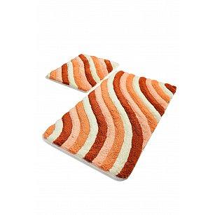 Набор ковриков для ванной DO&CO COLORFUL (60*100; 40*60), персиковый