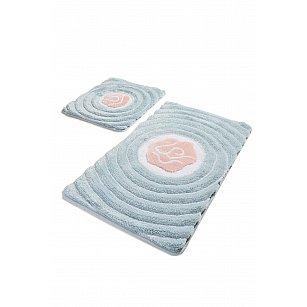 Набор ковриков для ванной DO&CO FLORIA (60*100; 40*60), голубой