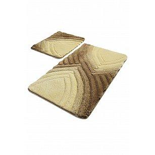 Набор ковриков для ванной DO&CO STELLA (60*100; 40*60), коричневый