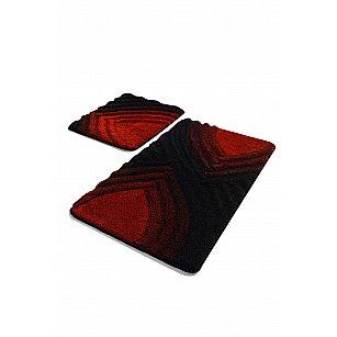 Набор ковриков для ванной DO&CO STELLA (60*100; 40*60), красный