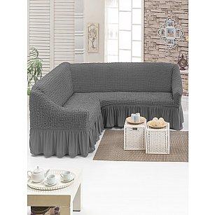 """Чехол на угловой диван универсальный """"DO&CO"""", серый"""