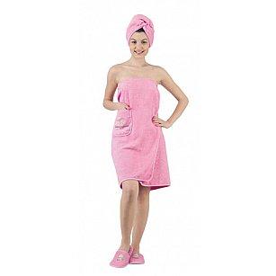 """Комплект для сауны женский """"KARNA PARIS"""", розовый"""