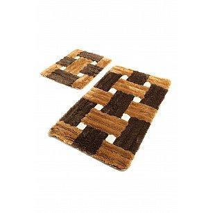 Набор ковриков для ванной DO&CO PIAZZA (60*100; 40*60), коричневый