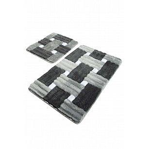 Набор ковриков для ванной DO&CO PIAZZA (60*100; 40*60), серый