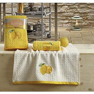 "Набор кухонных полотенец ""KARNA LEMON"" Желтый, v1, 45*65 см - 2 шт"