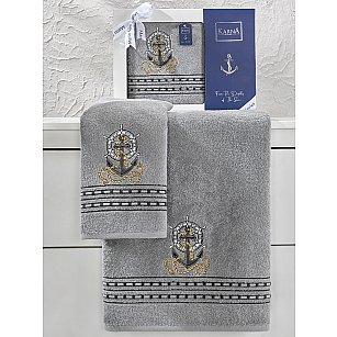 """Комплект махровых полотенец """"KARNA MARIN"""" (50*90; 70*140), серый"""