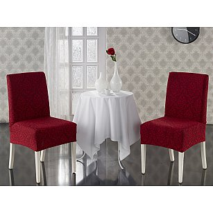 """Набор чехлов на стулья """"KARNA MILANO"""", бордовый"""
