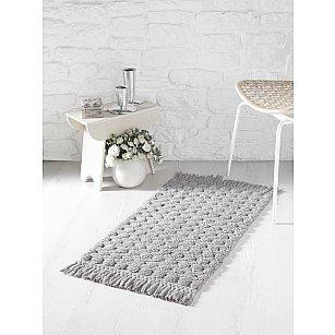 """Коврик для ванной c бахромой """"MODALIN PONPON"""", серый, 50*80 см"""