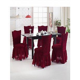"""Набор чехлов на стулья """"JUANNA"""", бордовый"""