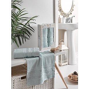 Комплект махровых полотенец TWO DOLPHINS ZENIT (50*90; 70*140), светло-зеленый