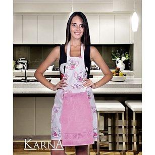 """Комплект для кухни """"KARNA"""" с салфеткой, розовый"""