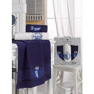 Комплект махровых полотенец MERZUKA KING (50*90*2, 70*140), синий