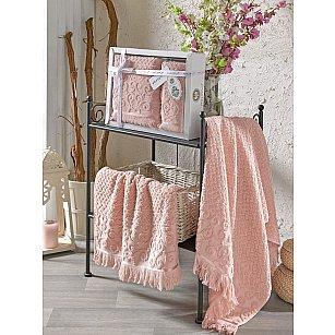 Комплект махровых полотенец с бахромой PHILIPPUS WENDY (50*90; 70*140), пудра
