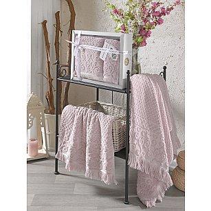 Комплект махровых полотенец с бахромой PHILIPPUS WENDY (50*90; 70*140), светло-розовый