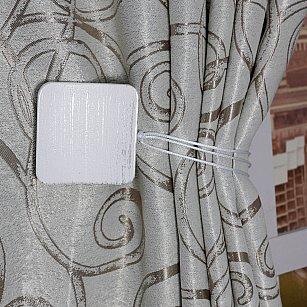 Подхват магнитный дерево Ajur MI M23, белый, серебряный