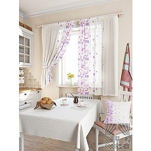 """Комплект штор """"Кринс"""", фиолетовый, 180 см"""