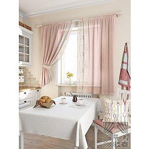 """Комплект штор """"Колхер"""", розовый, 180 см"""