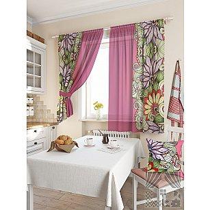 """Комплект штор """"Балес"""", фиолетовый, 180 см"""