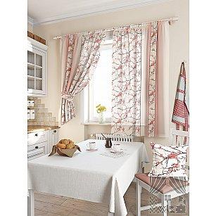 """Комплект штор """"Ориен"""", розовый, 180 см"""