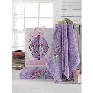 Комплект махровых полотенец Merzuka Sakura Garden (50*80; 70*130), лиловый