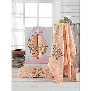Комплект махровых полотенец Merzuka Sakura Garden (50*80; 70*130), оранжевый