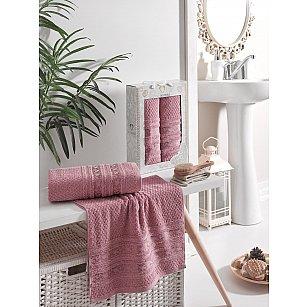 Комплект махровых полотенец TWO DOLPHINS ZENIT (50*90; 70*140), брусничный