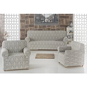 "Набор чехлов для дивана ""KARNA MILANO"" 3+1+1, натурал"