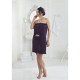 """Набор для сауны женский """"KARNA PERA"""", фиолетовый"""