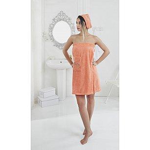 """Набор для сауны женский """"KARNA PERA"""", оранжевый"""