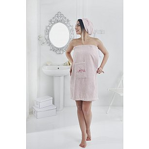 """Набор для сауны женский """"KARNA PERA"""", розовый"""