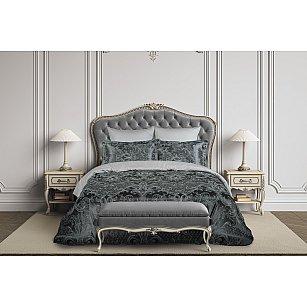 КПБ сатин жаккард Gusto (2 спальный), серый, графитовый