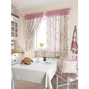 """Комплект штор """"Лекса"""", розовый, 180 см"""