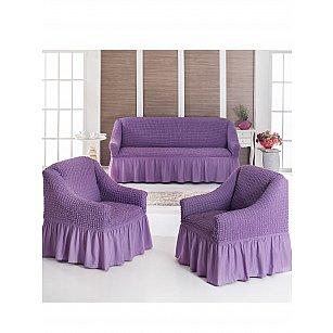 """Набор чехлов для дивана и кресел """"DO&CO"""" 3+1+1, лиловый"""