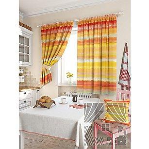 """Фотошторы для кухни """"Нерине"""", желтый, 180 см"""