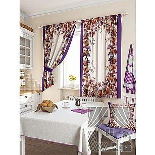 """Фотошторы для кухни """"Порум"""", фиолетовый, 180 см"""