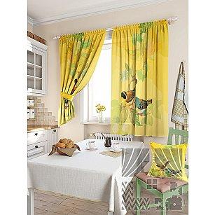 """Комплект штор """"Допсис"""", желтый, 180 см"""