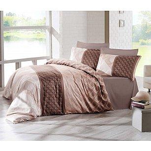 """Комплект постельного белья сатин """"ALTINBASAK FESTA"""" (2 спальный), коричневый"""