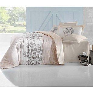 Комплект постельного белья ALTINBASAK ILMA Сатин (2 спальный), кремовый